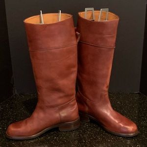 Cole Haan Tall leather Saddle Tan Boots. 8.5
